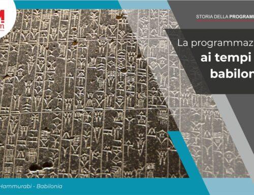 La programmazione ai tempi dei Babilonesi